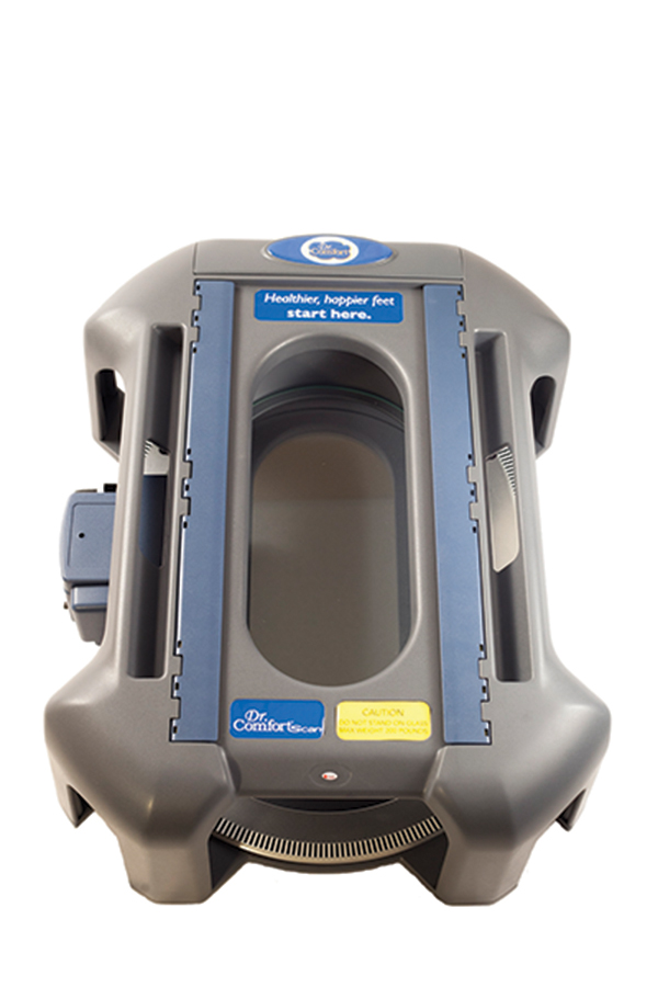 Dr. Comfort's orthotic scanner