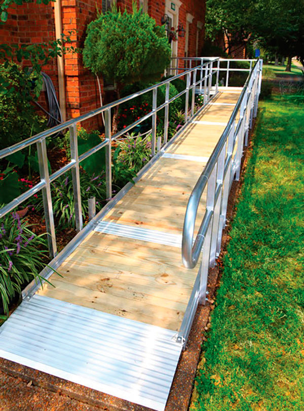 A hybrid aluminum and steel ramp is durable and environmentally friendly.