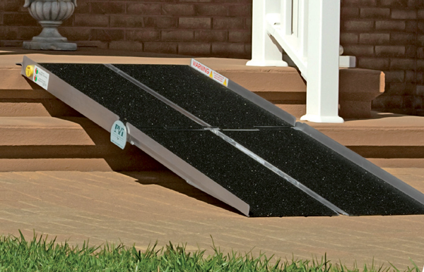 The Multifold ramp separates into two pieces for easy transport.