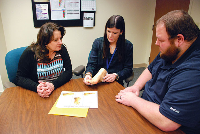 Corporate trainer Jillian Miller provides hands-on education