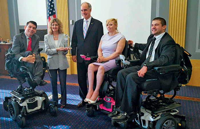 Smith on Capitol Hill to advocate on behalf of those who use complex rehab technology.
