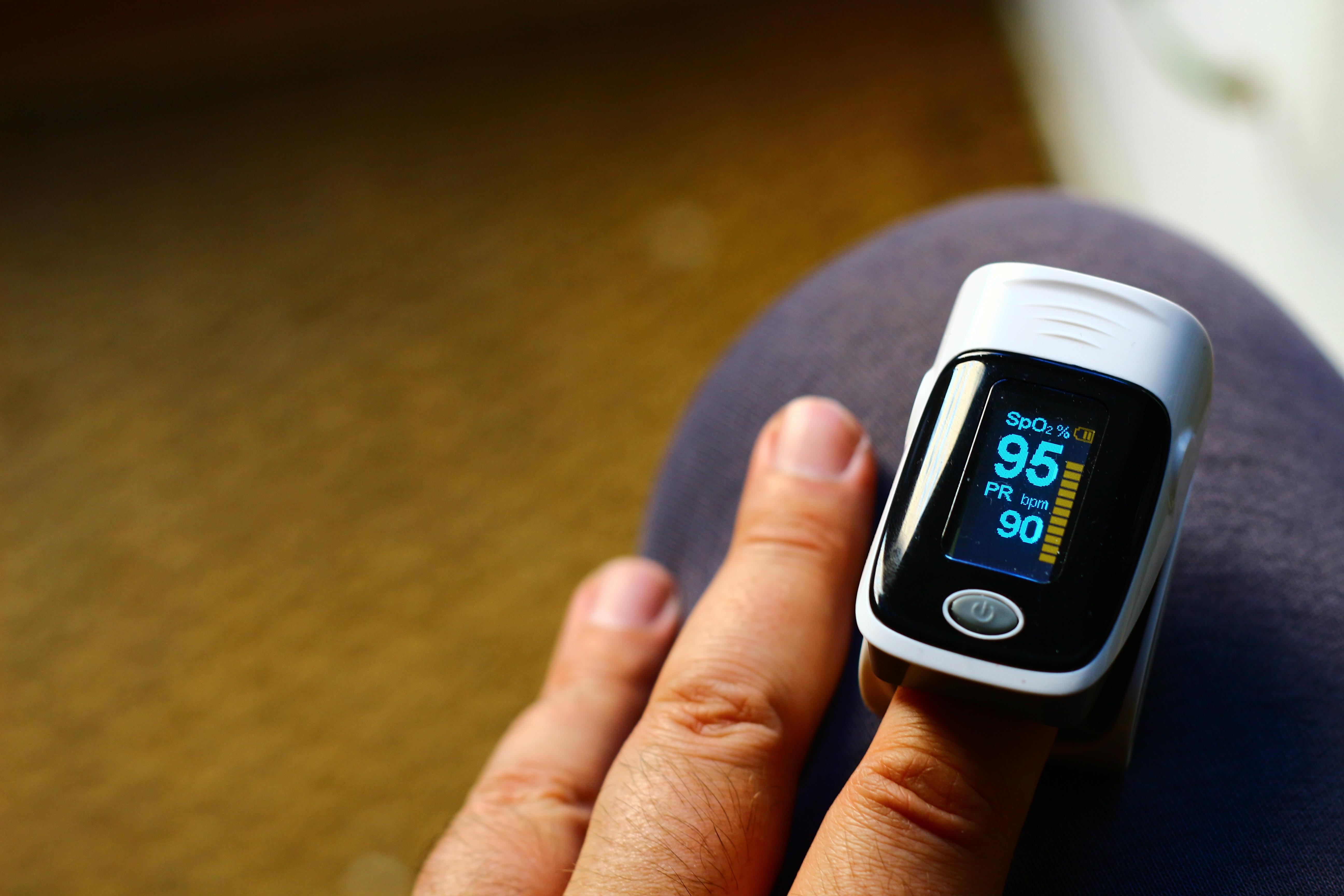 Oximeter pulse normal in of saturation oxygen range