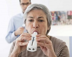 Spirometry  testing senior adult