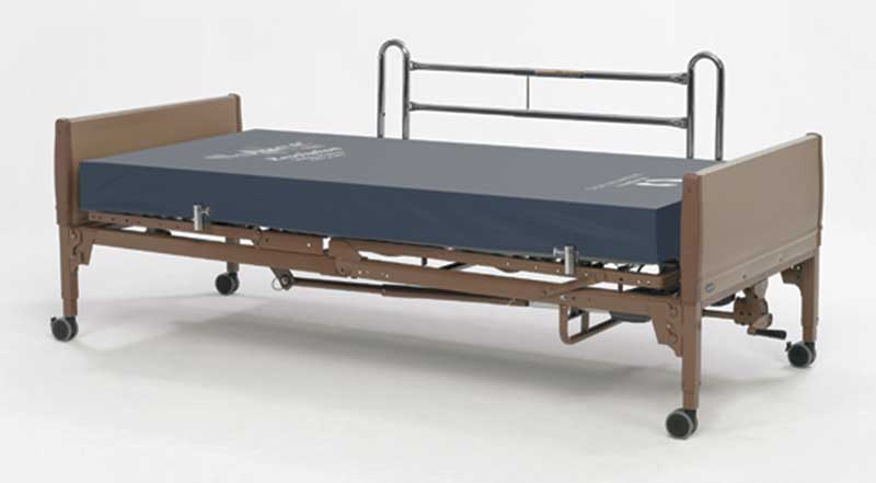The Invacare Semi-Electric Bed combines easy positioning of the upper body and knees with the economy of manual bed height adjustment.<br />