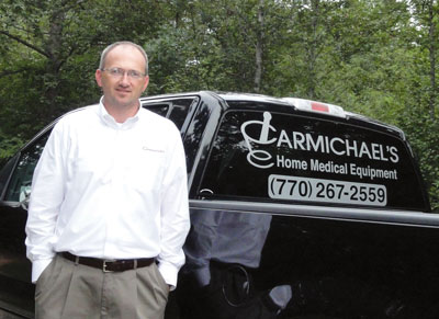 Bill Cheek, above, has helped Carmichael's HME grow to three locations relying on a healthy mix of insurance and retail sales.