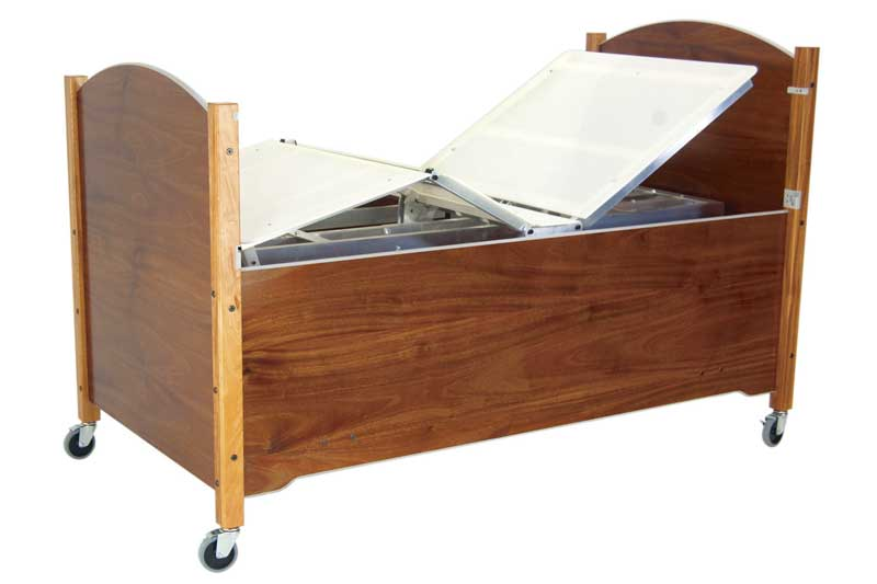 Mahogany articulating bed from SleepSafe