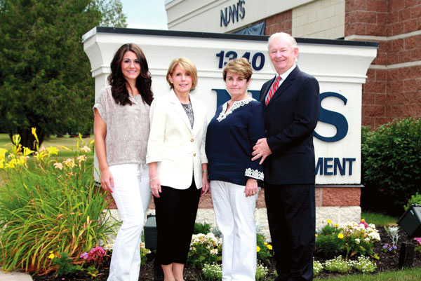 Left to right: Erin Weiman, director of operations; Sheila Murphy and Nancy Ryan, co-owners, and Joseph Ryan, the president of Nunn's Home Medical Equipment.