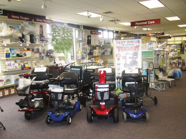 An open layout and attractive displays encourage customers to linger at Nunn's Home Medical Equipment.