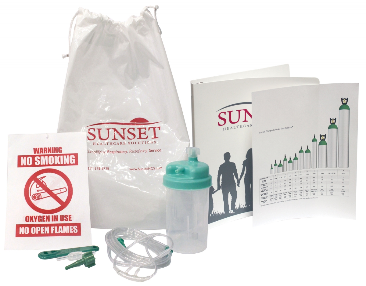 Sunset Health Solutions helps providers assemble new patient set-up kits.